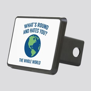 The Whole World Rectangular Hitch Cover