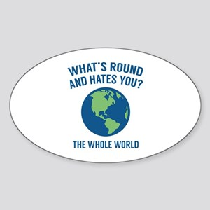 The Whole World Sticker (Oval)