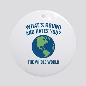 The Whole World Ornament (Round)