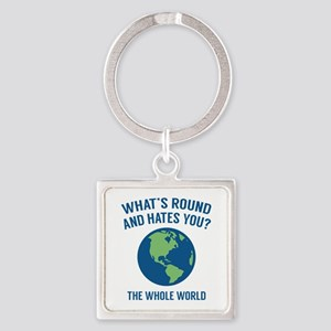 The Whole World Square Keychain
