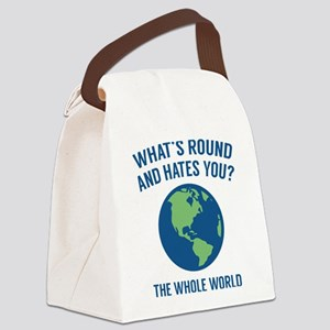 The Whole World Canvas Lunch Bag