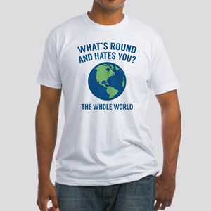 The Whole World Fitted T-Shirt