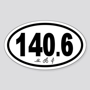 140.6 Triathlon Oval Sticker