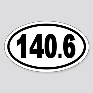 Iron 140.6 Oval Sticker