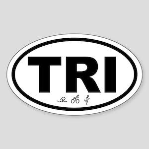 Triathlete Oval Sticker