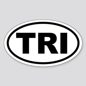 Basic Triathlon Oval Sticker