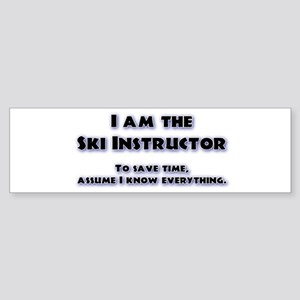 Ski Instructor Bumper Sticker