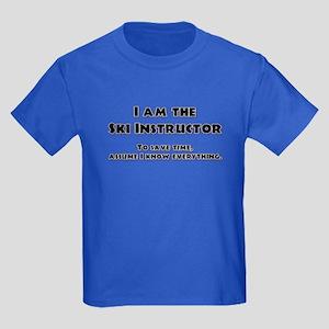 Ski Instructor Kids Dark T-Shirt