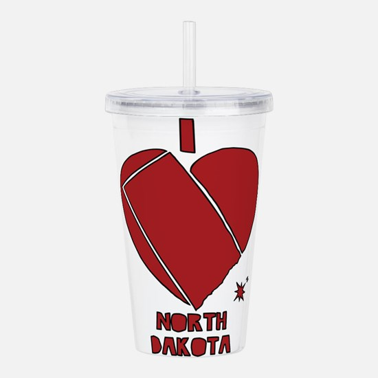 I Love North Dakota Acrylic Double-wall Tumbler