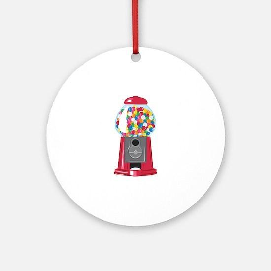 Gumball Machine Round Ornament