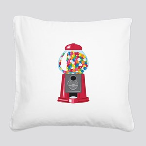 Gumball Machine Square Canvas Pillow