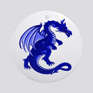 Blue Dragon Ornament (Round)