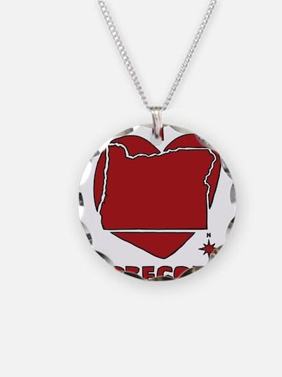 I Love Oregon Necklace