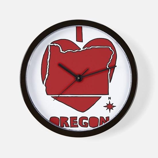 I Love Oregon Wall Clock