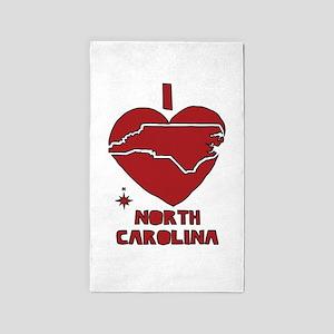 I Love North Carolina Area Rug