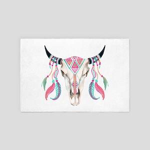 Buffalo Skull 4' X 6' Rug