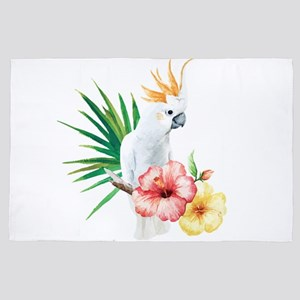 Tropical Cockatoo 4' X 6' Rug