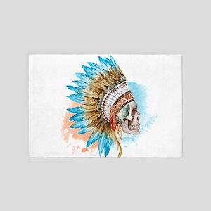 Skull Headdress 4' X 6' Rug