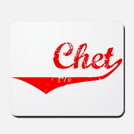 Chet Vintage (Red) Mousepad