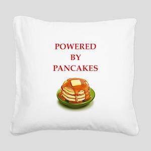 pancakes Square Canvas Pillow