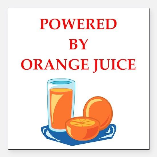 """orange juice Square Car Magnet 3"""" x 3"""""""