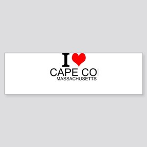 I Love Cape Cod, Massachusetts Bumper Sticker