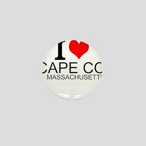 I Love Cape Cod, Massachusetts Mini Button
