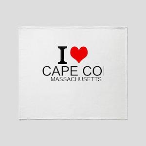 I Love Cape Cod, Massachusetts Throw Blanket
