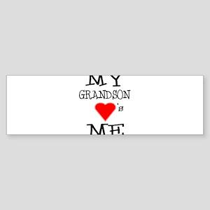 My Grandson Loves Me Bumper Sticker