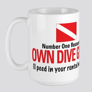 Own Dive Gear (Pee in Wetsuit) Large Mug
