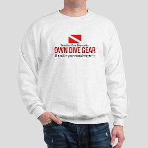 Own Dive Gear (Pee in Wetsuit) Sweatshirt