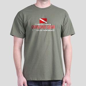 Own Dive Gear (Pee in Wetsuit) Dark T-Shirt