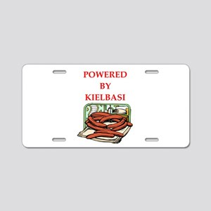 kielbasi Aluminum License Plate