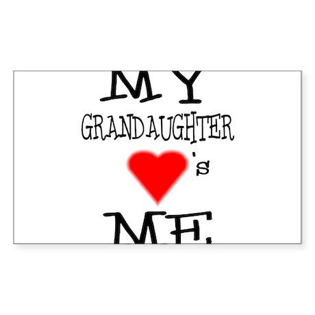 My Grandaughter Loves Me Rectangle Sticker