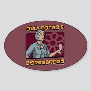 Archer Malory Duly Noted Sticker (Oval)