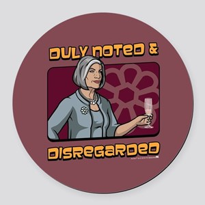 Archer Malory Duly Noted Round Car Magnet