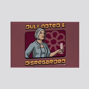 Archer Malory Duly Noted Rectangle Magnet