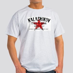 Faded Russian star and AK47 info T-Shirt