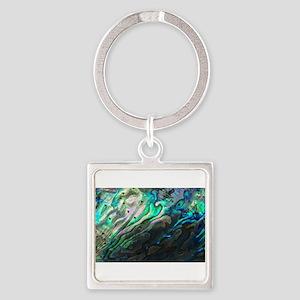 Iridescent Sea Shell Keychains