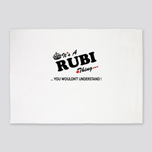 RUBI thing, you wouldn't understand 5'x7'Area Rug