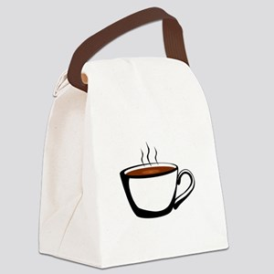 Cup of Coffee Canvas Lunch Bag