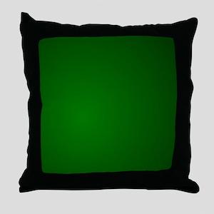 Hunter Green gradient Throw Pillow