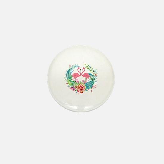 Unique Flamingos Mini Button