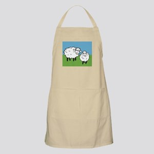 momma sheep baby lamb BBQ Apron