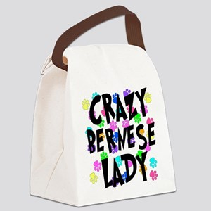 Crazy Bernese Lady Canvas Lunch Bag