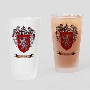 Wallace Shield Drinking Glass