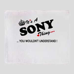 SONY thing, you wouldn't understand Throw Blanket