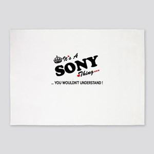 SONY thing, you wouldn't understand 5'x7'Area Rug