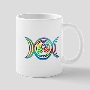 Rainbow Triple Moon Mugs