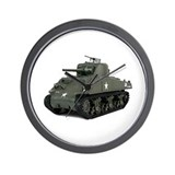 Army tank Wall Clocks